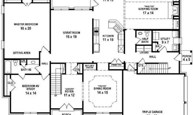 Bedroom Bath House Open Floor Plan