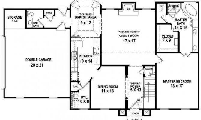 Bedroom Bath House Plans Home Deco