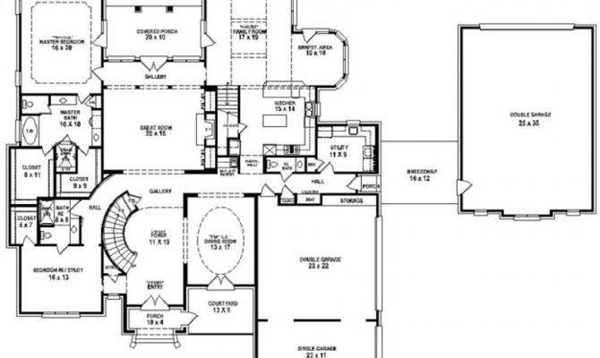 Bedroom Bath House Plans Homes Floor