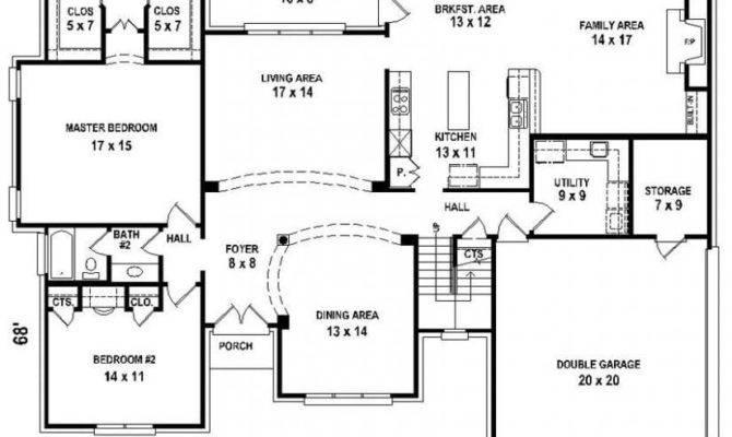 Bedroom Bath House Plans New