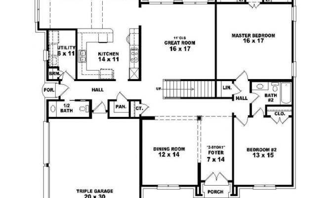 Bedroom Bath House Plans Real Estate