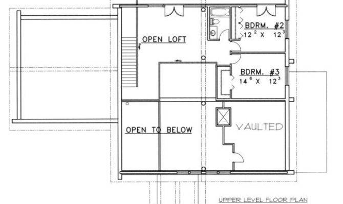 Bedroom Bath Log Cabin House Plan Alp