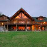 Bedroom Bath Log Home Sets Nearly Acres