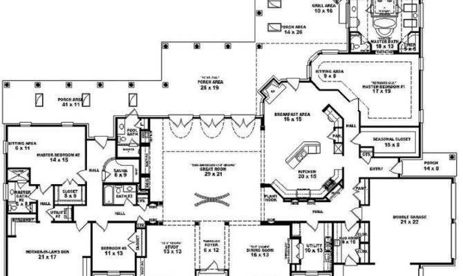 Bedroom Bath Mediterranean Style House Plan Plans Floor