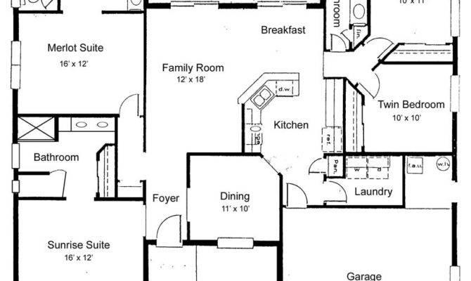 Bedroom Bath Ranch Floor Plans Real Estate