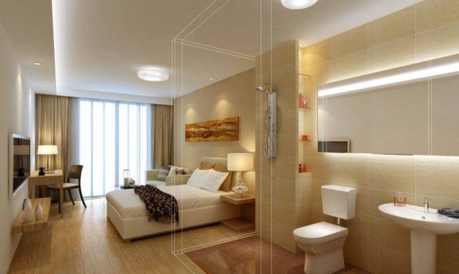 Bedroom Bathroom Design Rendering House