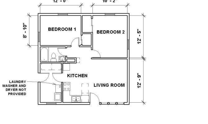 Bedroom Bungalow Floor Plan House Design Plans
