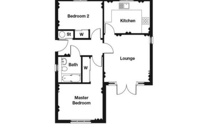 Bedroom Bungalow Floor Plan House Plans