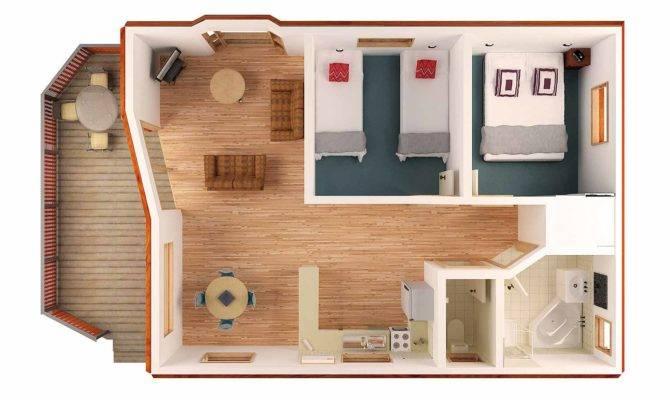 Bedroom Bungalow Floor Plans Bungalows Plan