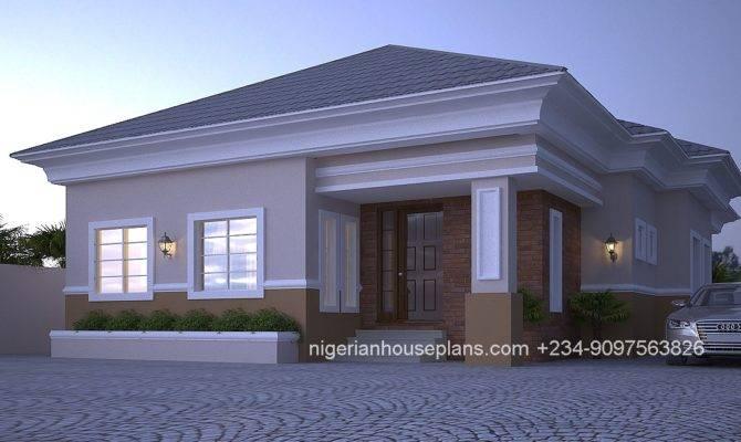 Bedroom Bungalow Floor Plans Nigeria