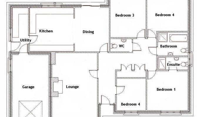 Bedroom Bungalow Ground Floor Plan