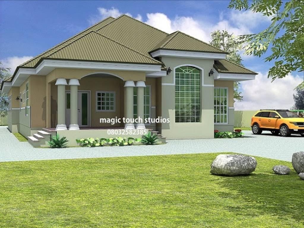 Bedroom Bungalow House Plan Nigeria Ghana - House Plans  #10