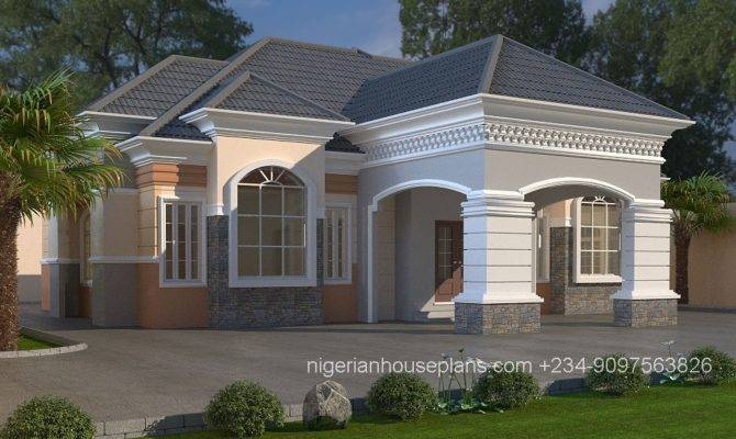 Bedroom Bungalow House Plans Nigeria House Plans 107023