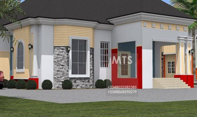 Bedroom Bungalow Modern Contemporary Nigerian