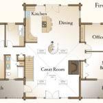 Bedroom Cabin Floor Plans Richmond Log Home Plan