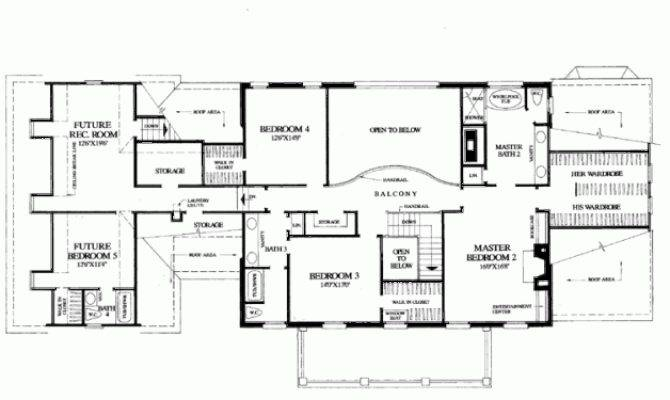 Bedroom Colonial House Plan Favething