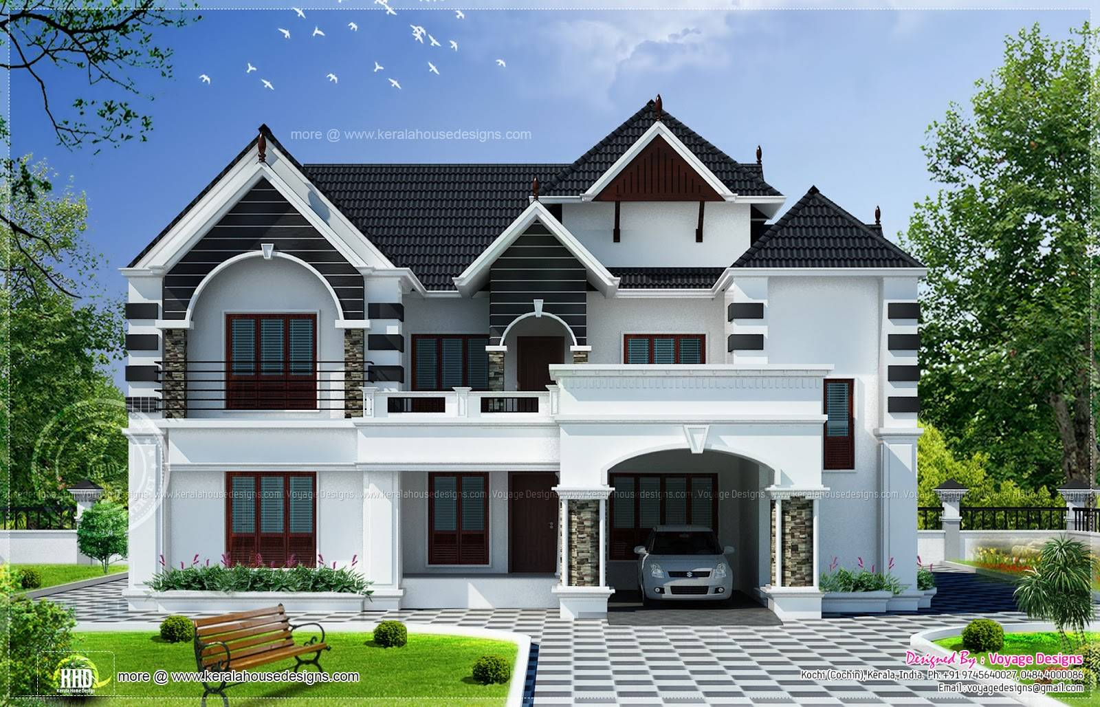 Bedroom Colonial Style House Kerala Home Design Floor Plans House Plans 27635