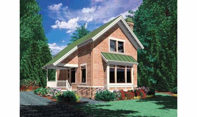 Bedroom Cottage Plan Loft