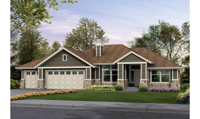 Bedroom Craftsman Style House Plans Large