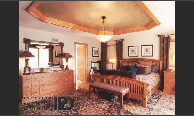 Bedroom Custom Designed Furnishings Using Cherry Maple Hardwoods