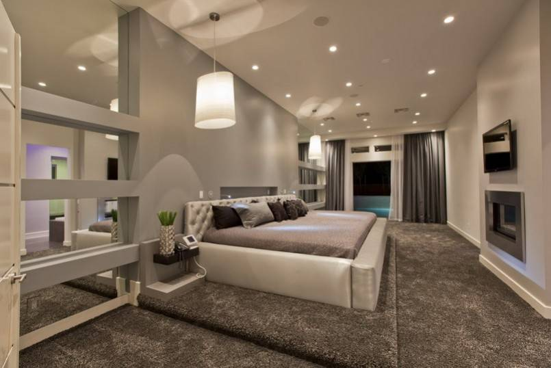 Bedroom Designs Awesome Modern Master Suite Gray House Plans 17761
