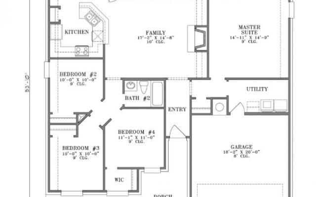 Bedroom Designs Spacious Home Floor Plan Enclosed