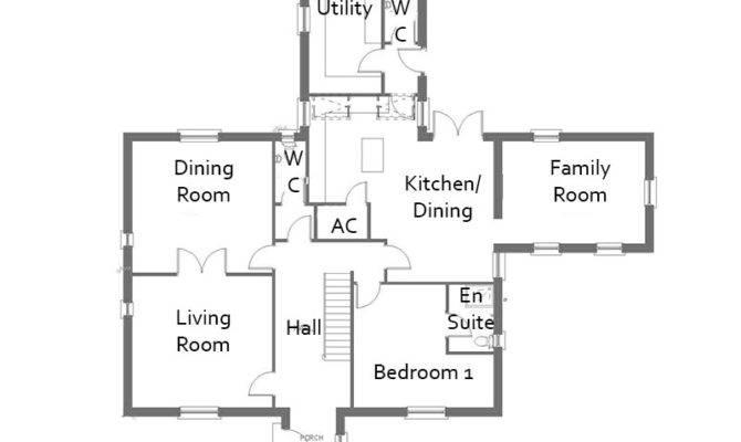 Bedroom Detached House Plans Tudorville
