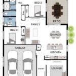 Bedroom Double Garage House Plans