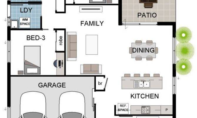 Bedroom Double Garage House Plans