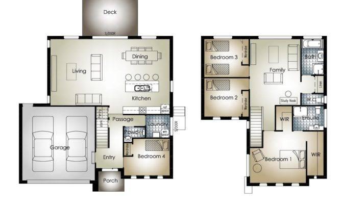 Bedroom Double Storey House Plans Floor Inspirations