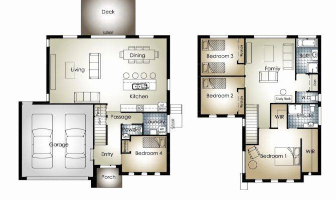 Bedroom Double Storey House Plans South Africa