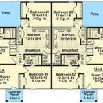 Bedroom Duplex Floor Plans Homes