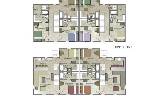 Bedroom Duplex House Plans