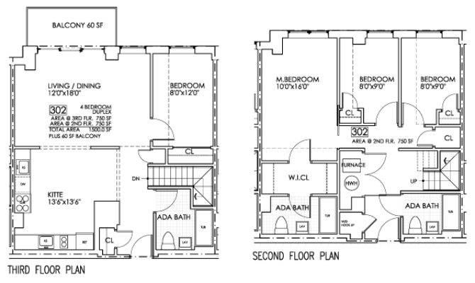Bedroom Duplex Plans Eretzone Floor Asp
