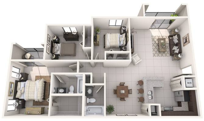 Bedroom Flat Architectural Plan Apts