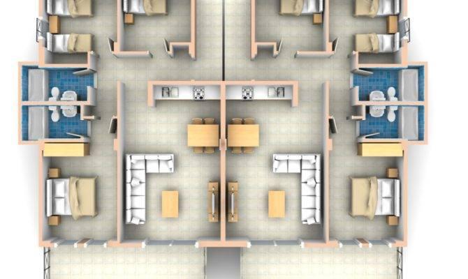 Bedroom Flat Floor Plan Apartment