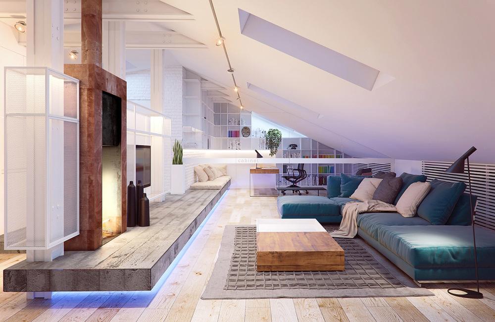 Bedroom Flat Kiev Sleek Contemporary Features House Plans 152961