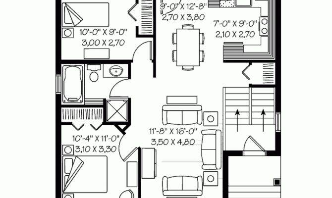Bedroom Floor Plan Along House Plans