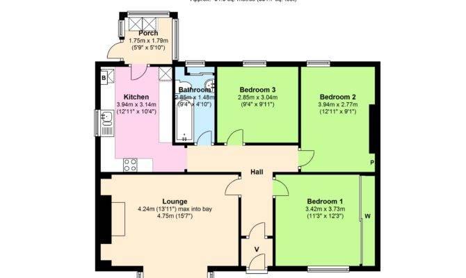 Bedroom Floor Plan Bungalow