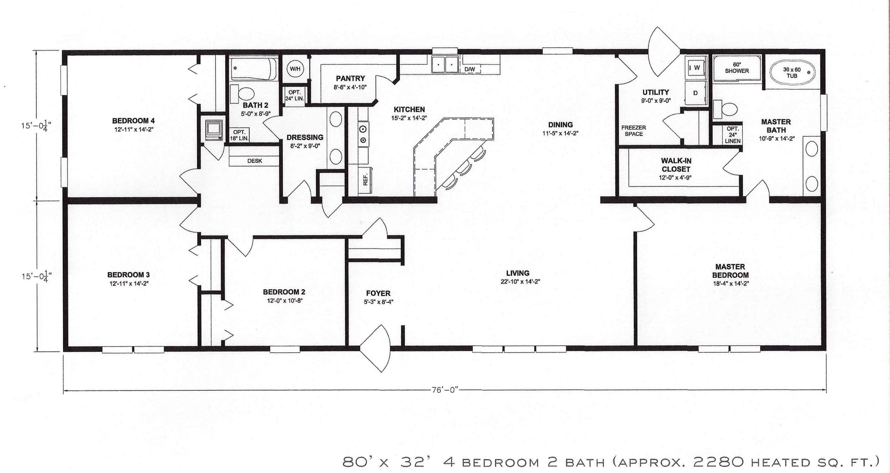 Bedroom Floor Plan Hawks Homes Manufactured - House Plans  #12