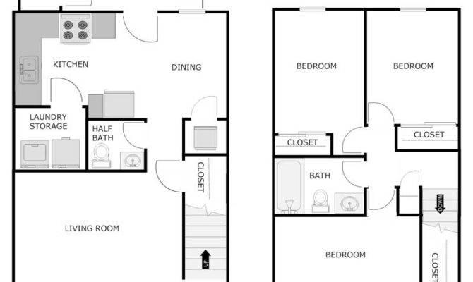 Bedroom Half Bath Apartment Jefferson Crossing