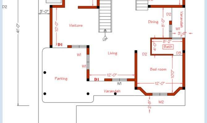 Bedroom Home Plan Elevation House Design Plans
