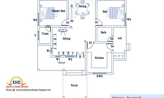 Bedroom Home Plan Elevation Kerala Design