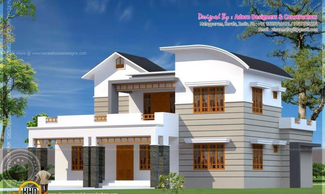 Bedroom House Exterior Kerala Home Design Floor Plans