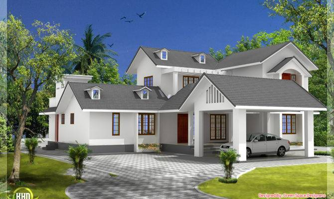 Bedroom House Gable Roof Type Design Kerala Idea