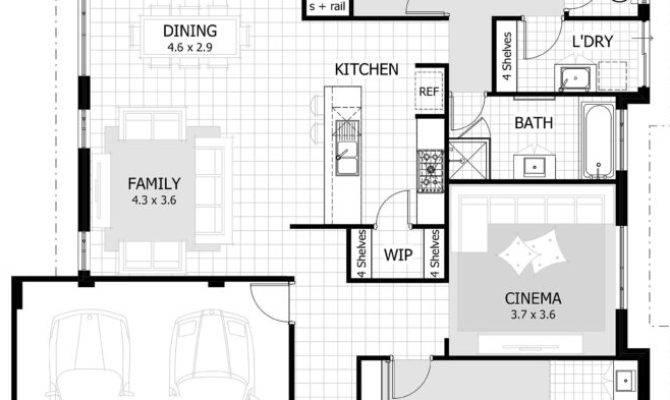 Bedroom House Plan Double Garage Design