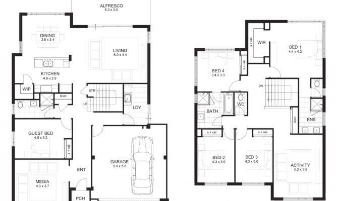 Bedroom House Plan Double Garage Ideas