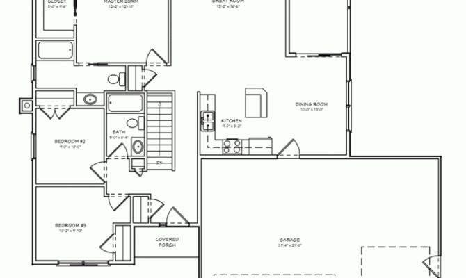 Bedroom House Plan Double Garage Nethouseplans