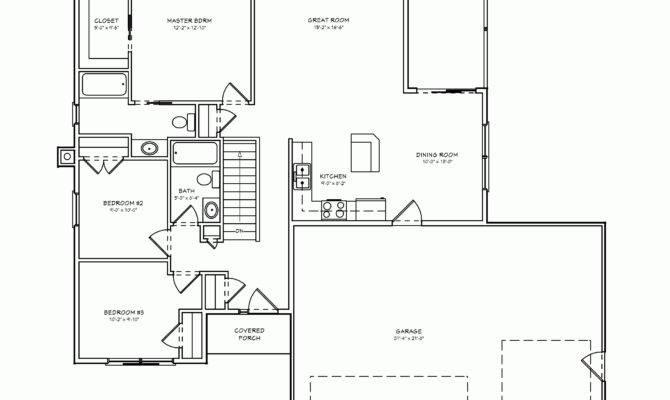 Bedroom House Plan Double Garage