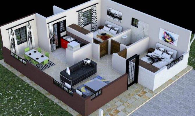 Bedroom House Plan Kenya Floor Plans Amazing
